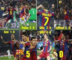 Puzle FC Barcelona 5 Real Madrid 0