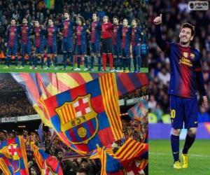 Puzle FC Barcelona, campeão 2012-2013