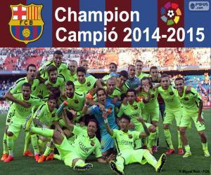 Puzle FC Barcelona, campeão 2014-2015