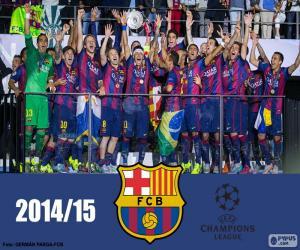 Puzle FC Barcelona campeão Champions 15
