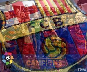 Puzle FC Barcelona, campeão de 2015-2016