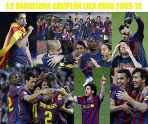 Puzle FC Barcelona campeão da Liga BBVA 2009-2010