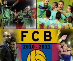 Puzle FC Barcelona campeão da Liga BBVA 2010 - 2011