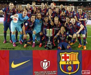 Puzle FC Barcelona Copa del Rey 14-15