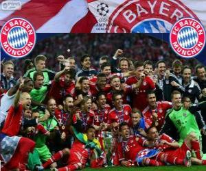 Puzle FC Bayern de Munique, campeão da Liga dos Campeões da UEFA 2012–13