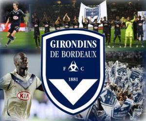 Puzle FC Girondins de Bordeaux, clube de futebol francês