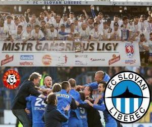 Puzle FC Slovan Liberec, campeão Gambrinus Liga 2011-2012, campeonato de futebol de la República Checa