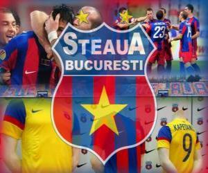 Puzle FC Steaua Bucareste, clube romeno de futebol