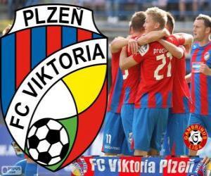 Puzle FC Viktoria Plzen, campeão da Gambrinus Liga 2012-2013