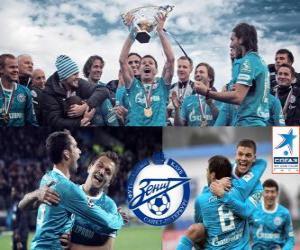 Puzle FC Zenit St. Petersburg, campeão da Liga de futebol russo, Premier Liga 2011-2012