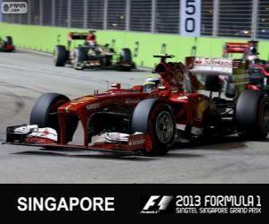 Puzle Felipe Massa - Ferrari - Singapura, 2013