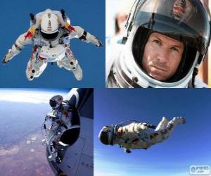 Puzle Felix Baumgartner salto da estratosfera