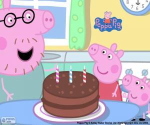 Puzle Feliz aniversário Peppa Pig