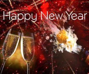 Puzle Feliz Ano Novo