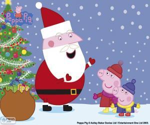 Puzle Feliz Natal Peppa