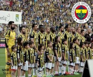 Puzle Fenerbahçe, campeão Super Lig 2013-2014, liga de futebol da Turquia