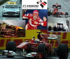 Puzle Fernando Alonso comemora a vitória no Grand Prix da Coreia (2010)
