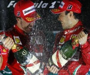 Puzle Fernando Alonso, Felipe Massa, o Grand Prix da Coreia (2010) (1 º e 2 º lugar)