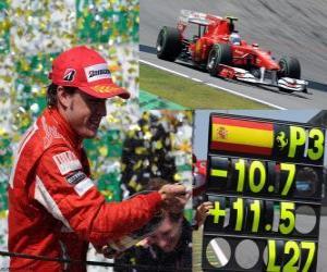 Puzle Fernando Alonso - Ferrari, GP do Brasil de 2010 (terceiro lugar)