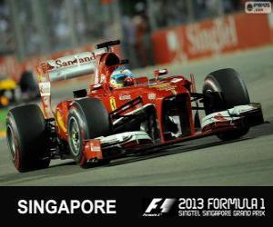 Puzle Fernando Alonso - Ferrari - Grand Prix de Cingapura 2013, 2º classificado