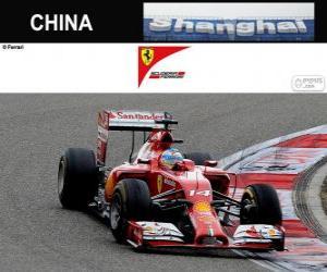 Puzle Fernando Alonso - Ferrari - Grande Prêmio da China de 2014, 3º classificado