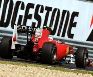 Puzle Fernando Alonso - Ferrari - Hungaroring, do Grande Prémio da Hungria 2010