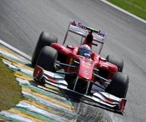 Puzle Fernando Alonso - Ferrari - Interlagos 2010