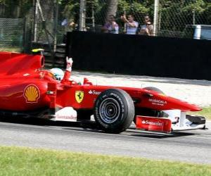 Puzle Fernando Alonso - Ferrari - Monza 2010