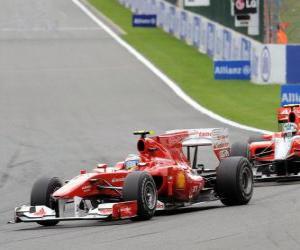 Puzle Fernando Alonso - Ferrari - Spa-Francorchamps 2010