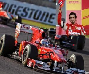 Puzle Fernando Alonso - Ferrari - Suzuka 2010 (terceiro lugar)