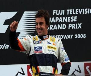 Puzle Fernando Alonso no pódium