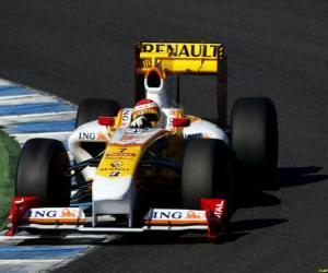 Puzle Fernando Alonso pilota seu F1