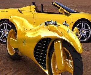 Puzle Ferrari Carros e motos