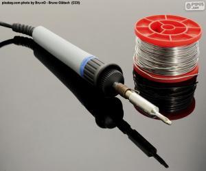 Puzle Ferro de solda elétrica de estanho
