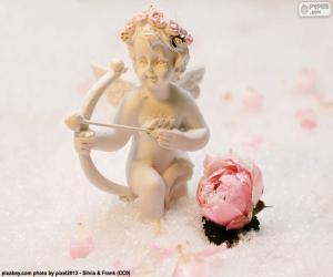 Puzle Figura do Cupido com arco