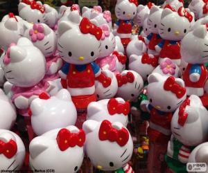 Puzle Figuras de Hello Kitty