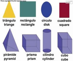 Puzle Figuras geométricas básicas