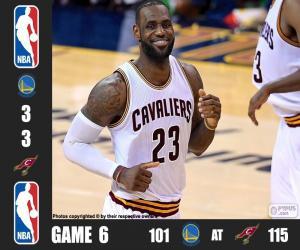 Puzle Final da NBA 16, jogo 6