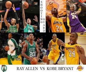 Puzle Final da NBA 2009-10, Ala-armador, Ray Allen (Celtics) vs Kobe Bryant (Lakers)