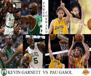 Puzle Final da NBA 2009-10, Ala-pivôs, Kevin Garnett (Celtics) versus Pau Gasol (Lakers)