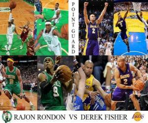Puzle Final da NBA 2009-10, Armador, Rajon Rondon (Celtics) vs Derek Fisher (Lakers)