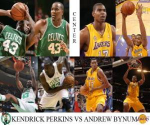 Puzle Final da NBA 2009-10, Pivot, Perkins Kendrick (Celtics) vs Andrew Bynum (Lakers)