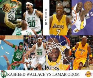 Puzle Final da NBA 2009-10, Reservas, Rasheed Wallace Celtics () vs Lamar Odom (Lakers)