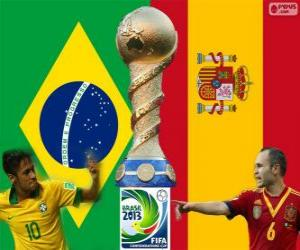 Puzle Final de Copa das Confederações FIFA de 2013, Brasil vs Espanha