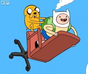 Puzle Finn e Jake voando