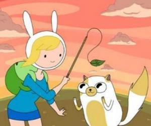 Puzle Fionna e Cake, dois dos personagens da Hora da Aventura