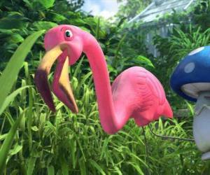 Puzle Flamingo, um flamingo solitário