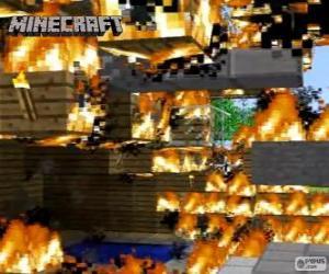 Puzle Fogo de Minecraft