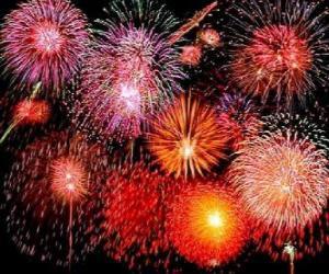 Puzle Fogos de artifício em comemoração do Ano Novo