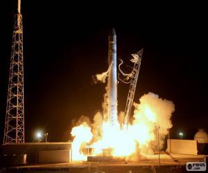 Puzle Foguete espacial no lançamento
